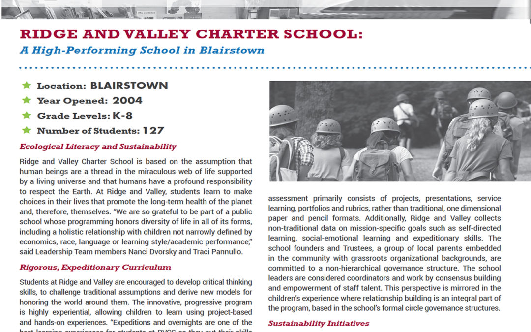 RVCS Featured as an Innovative & High-Performing New Jersey Charter School in NJCSA Report